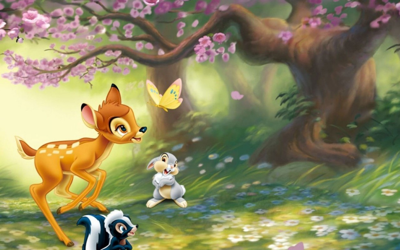 Download Bambi Jungle HD 4k Wallpapers In 2048x1152 Screen Resolution