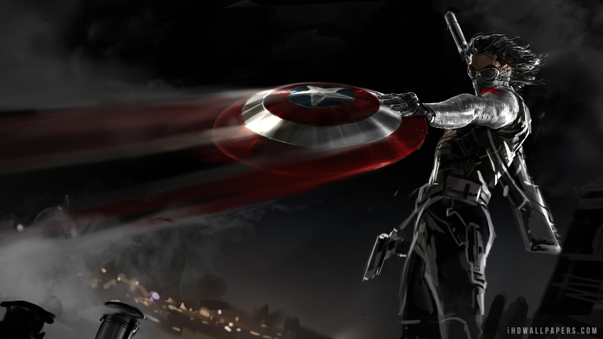 captain america the winter soldier outstanding hd wallpapers - all