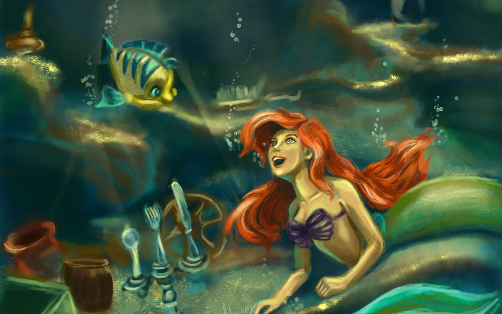 the little mermaid The little mermaid is one of disney's best animated motion pictures it tells the classic hans christian anderson story of a mermaid who wishes she could be human in order to capture the love of a human prince.