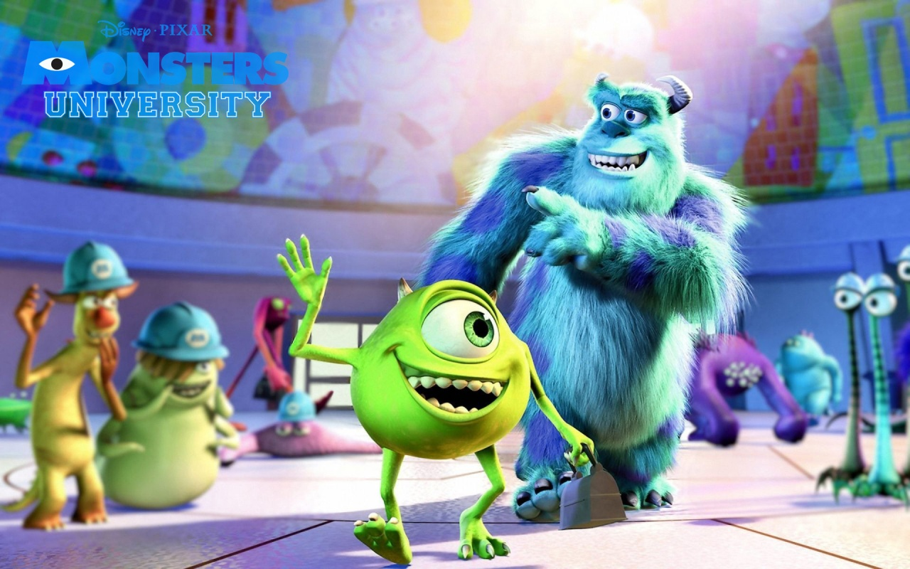 Wallpaper iphone monster university - Monsters University 1