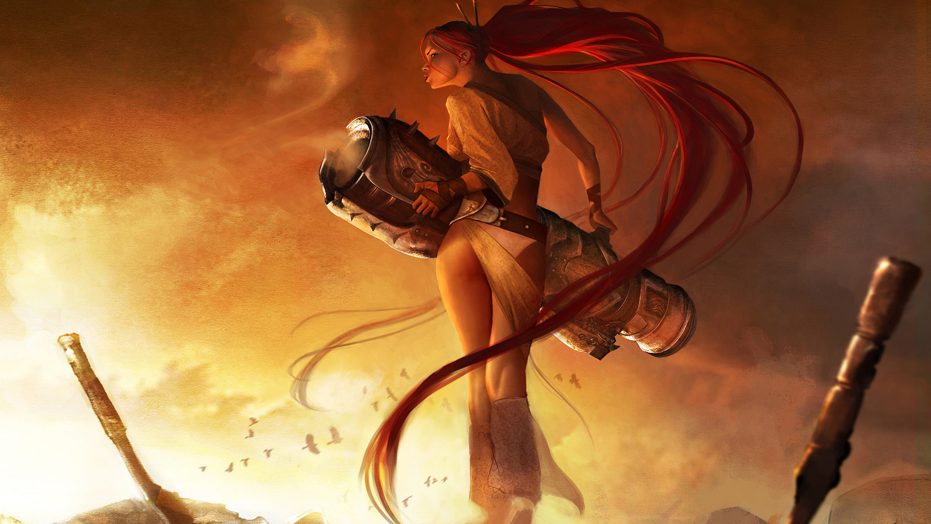 3d Sword Games Hd Wallpaper For Mobile: Heavenly Sword Game Awesome Wallpapers