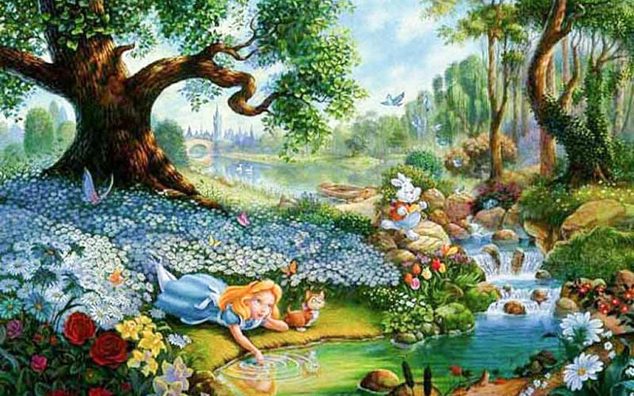 alice in wonderland cartoon hd desktop backgrounds all hd wallpapers. Black Bedroom Furniture Sets. Home Design Ideas