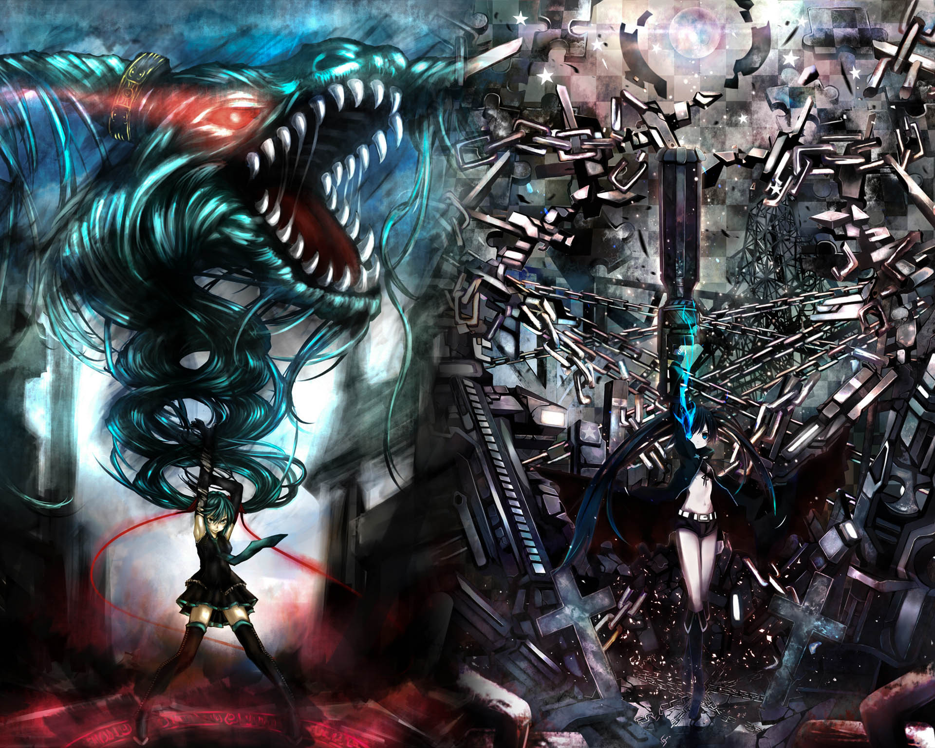 Black Rock Shooter New Hd Wallpapers High Definition