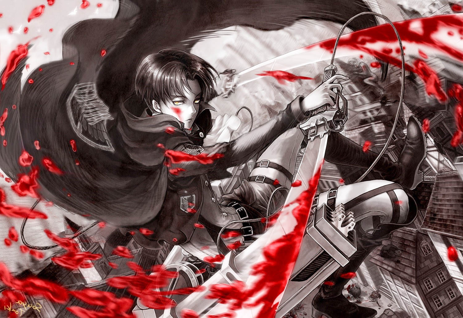 Attack on titan wallpaper in high quality all hd wallpapers attack on titan 6 voltagebd Choice Image