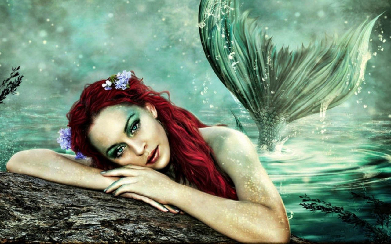 wallpaper beautiful mermaid pictures-#20