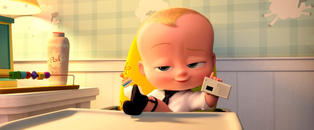 sq700 s30 f116: Boss Baby (voiced by Alec Baldwin) getting down to business in DreamWorks Animation's THE BOSS BABY. Photo Credit: DreamWorks Animation