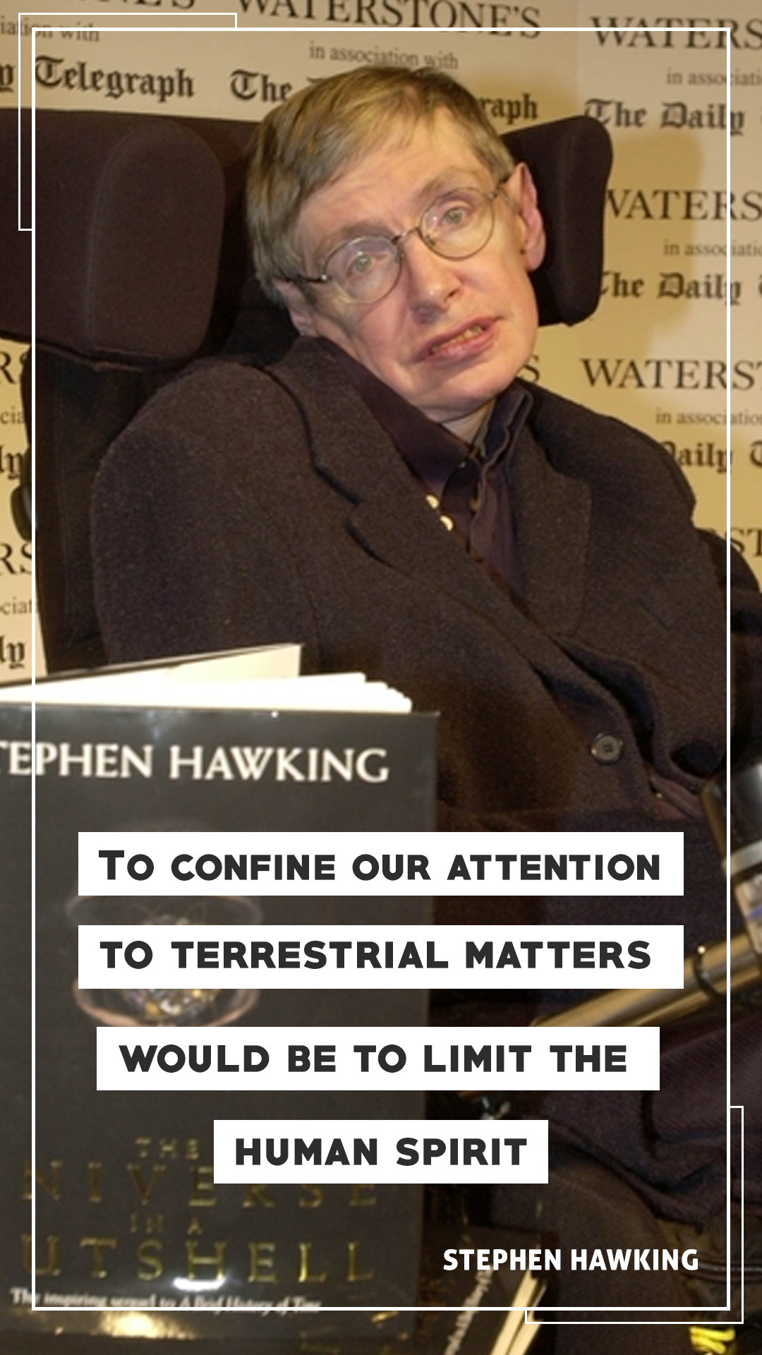 Stephen Hawking Quote Mobile Wallpaper2