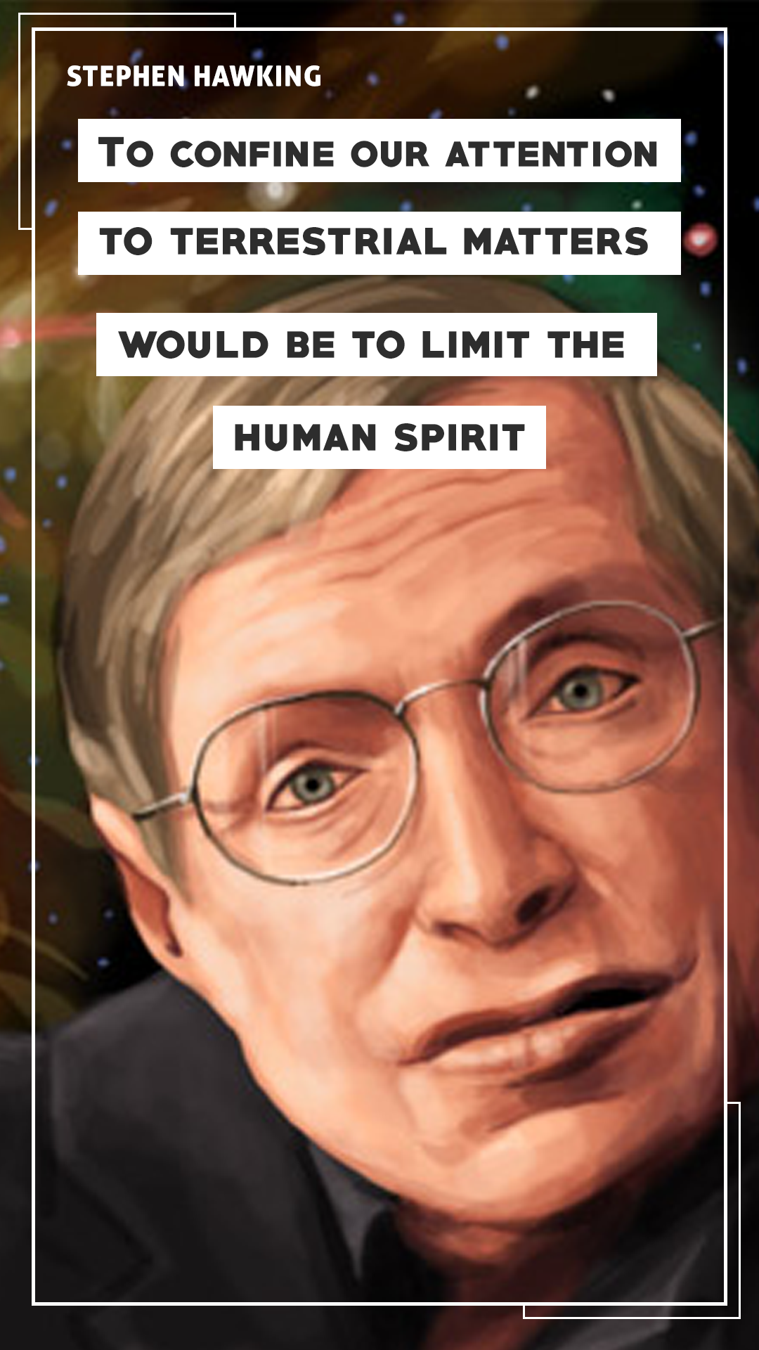 Stephen Hawking Quote Mobile Wallpaper3