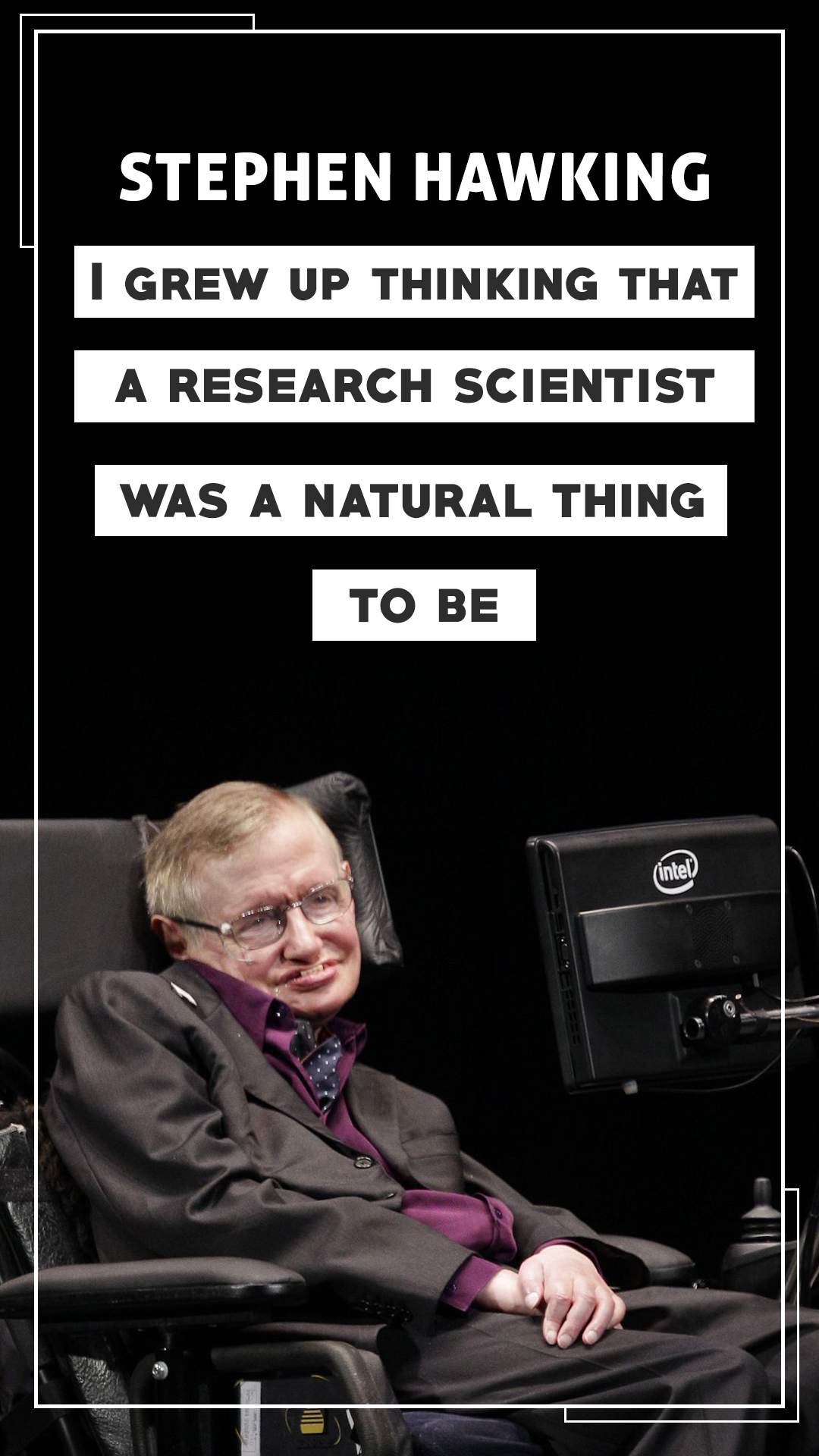 Stephen Hawking Quote Mobile Wallpaper4