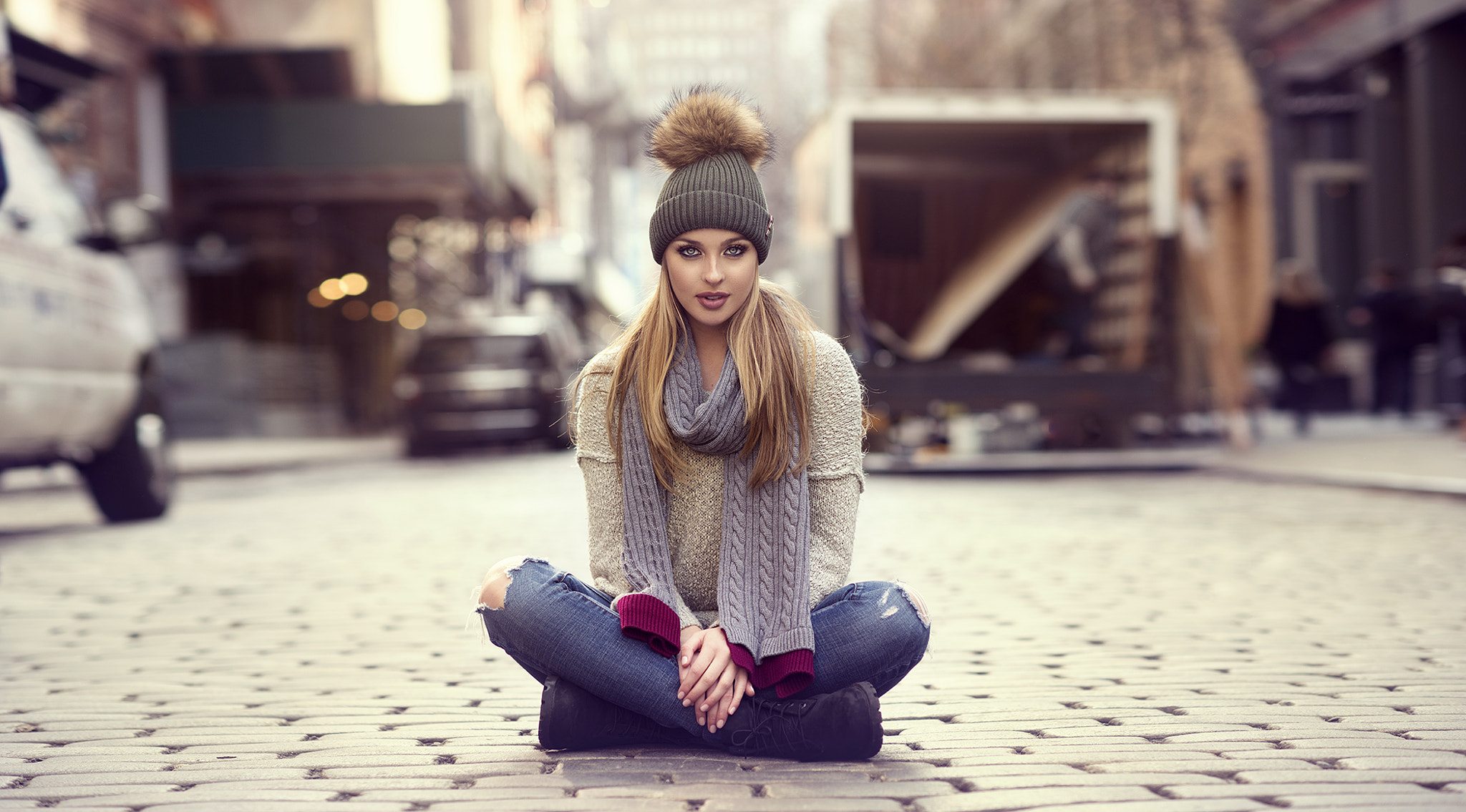 beautiful girl in winters