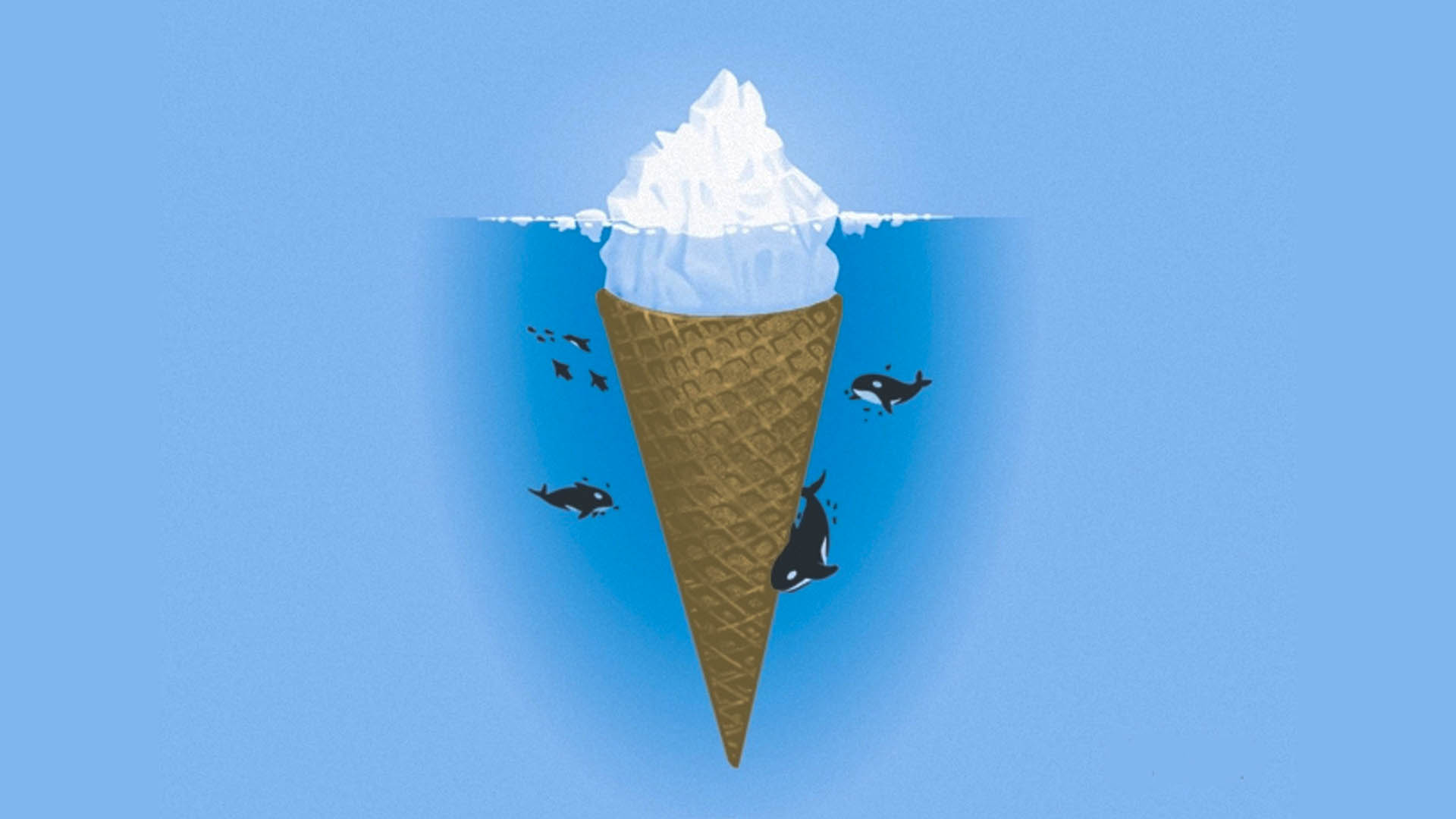 simple wallpapers humor hd iceberg ice background wall cream allhdwallpapers