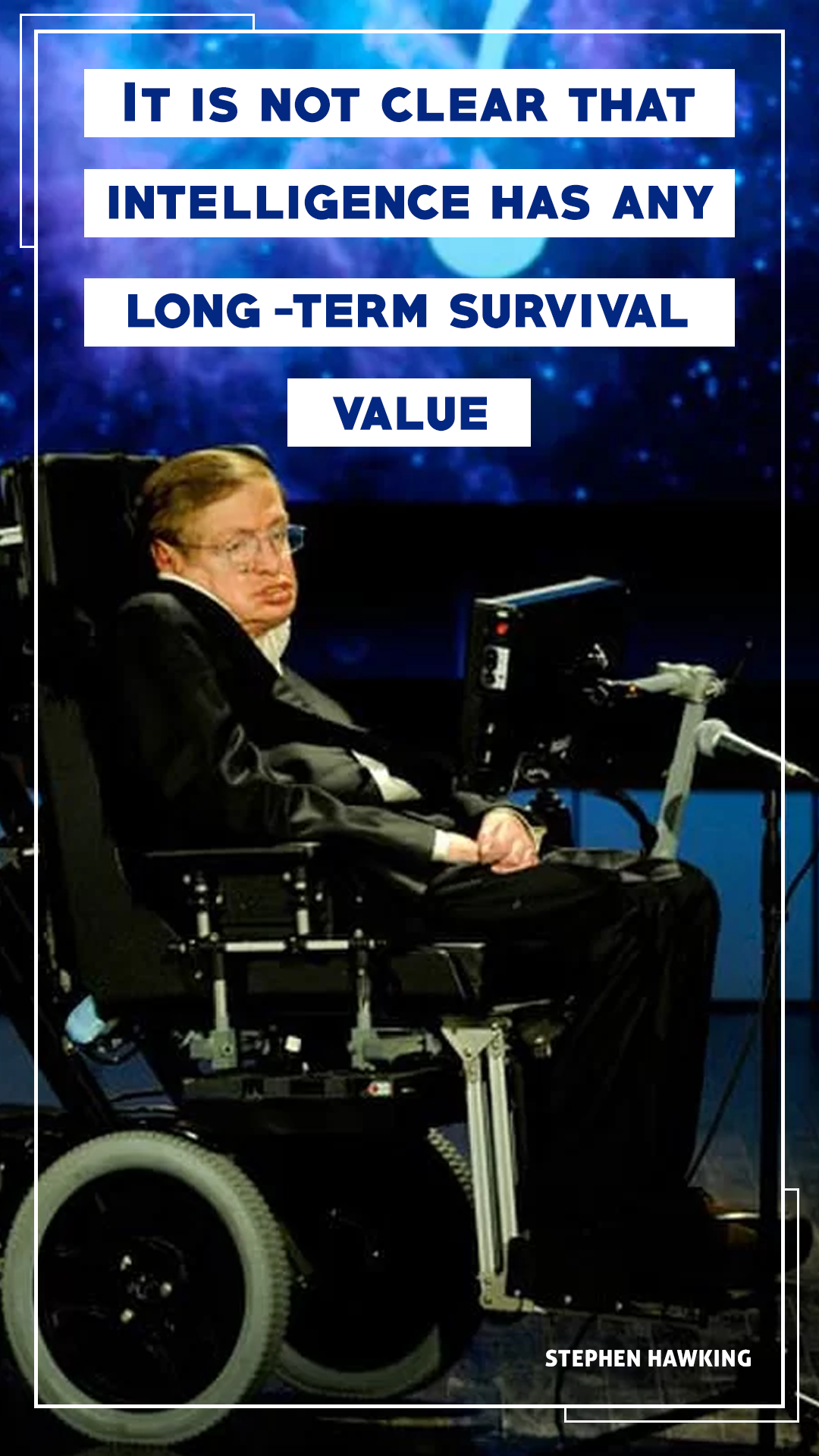 Stephen Hawking Quote Mobile Wallpaper1