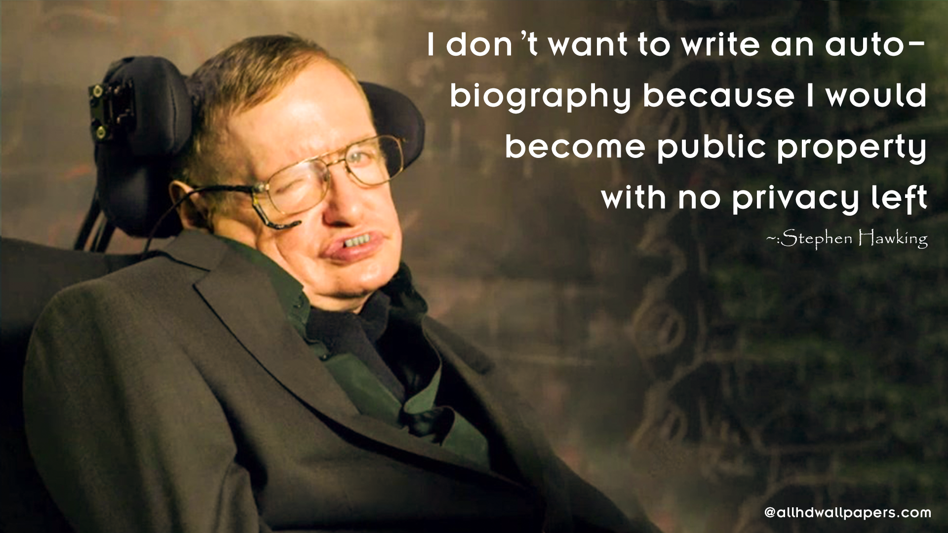 Stephen Hawking Quote Wallpaper8