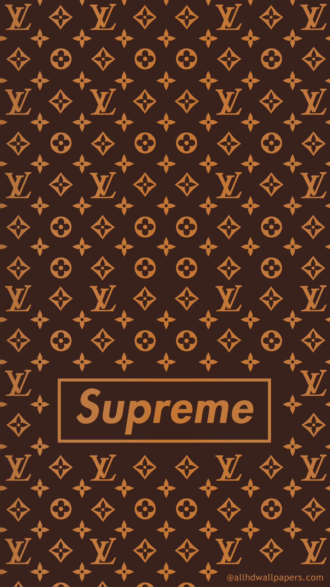 Supreme Wallpaper for mobile Supreme mobile wallpaper LV pattern Mobile Wallpaper ...