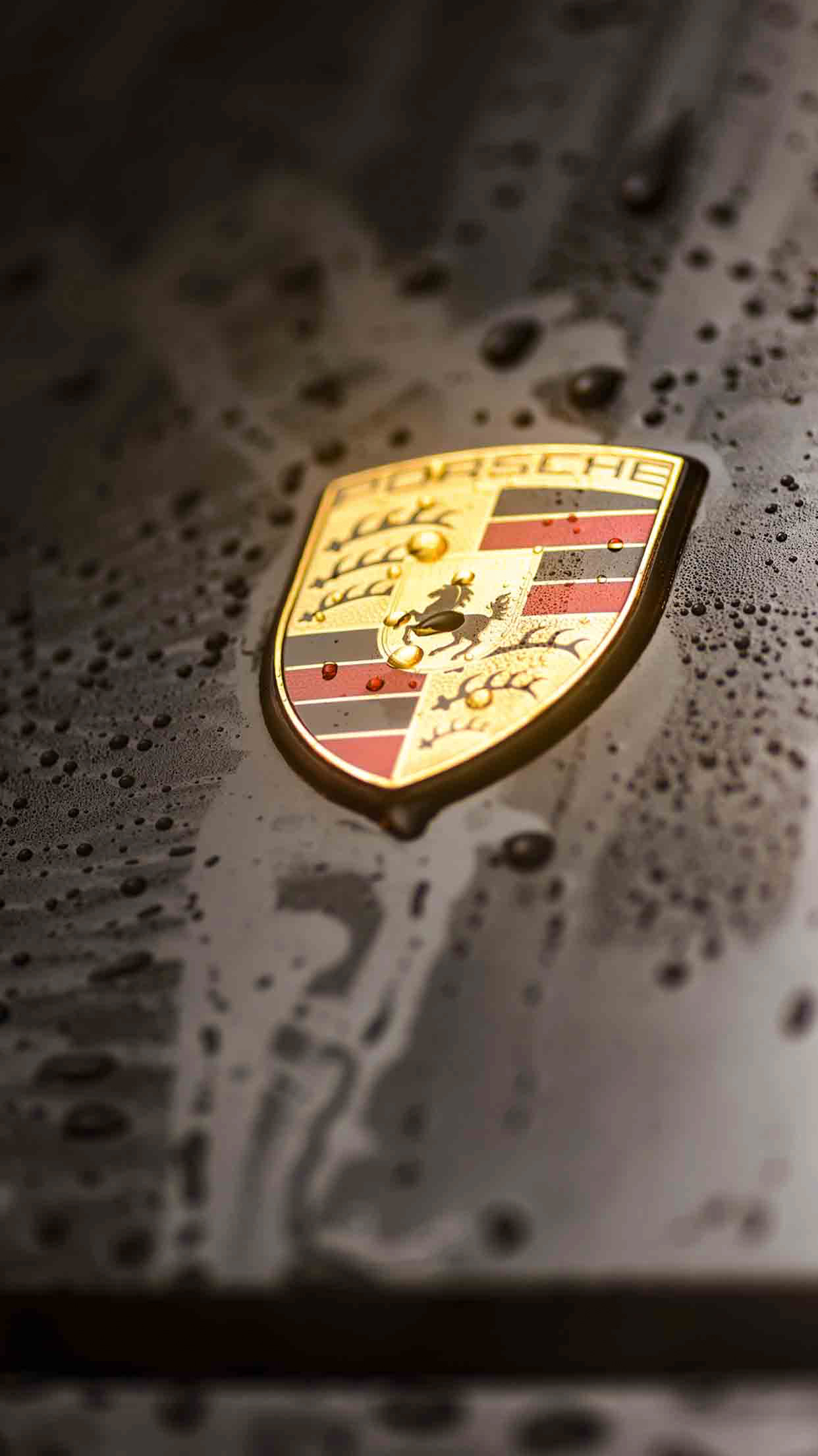 Porsche logo 4K Wallpaper