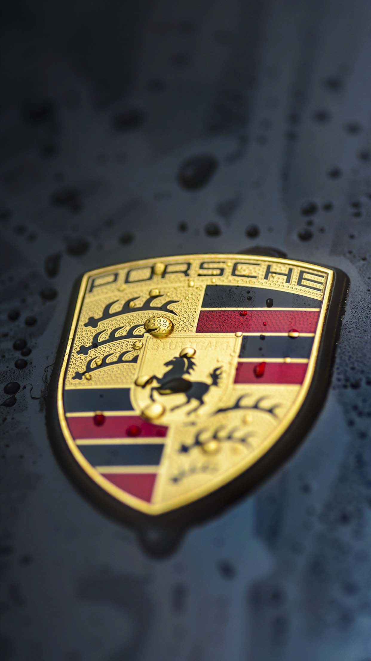 Porsche Black logo Wallpaper