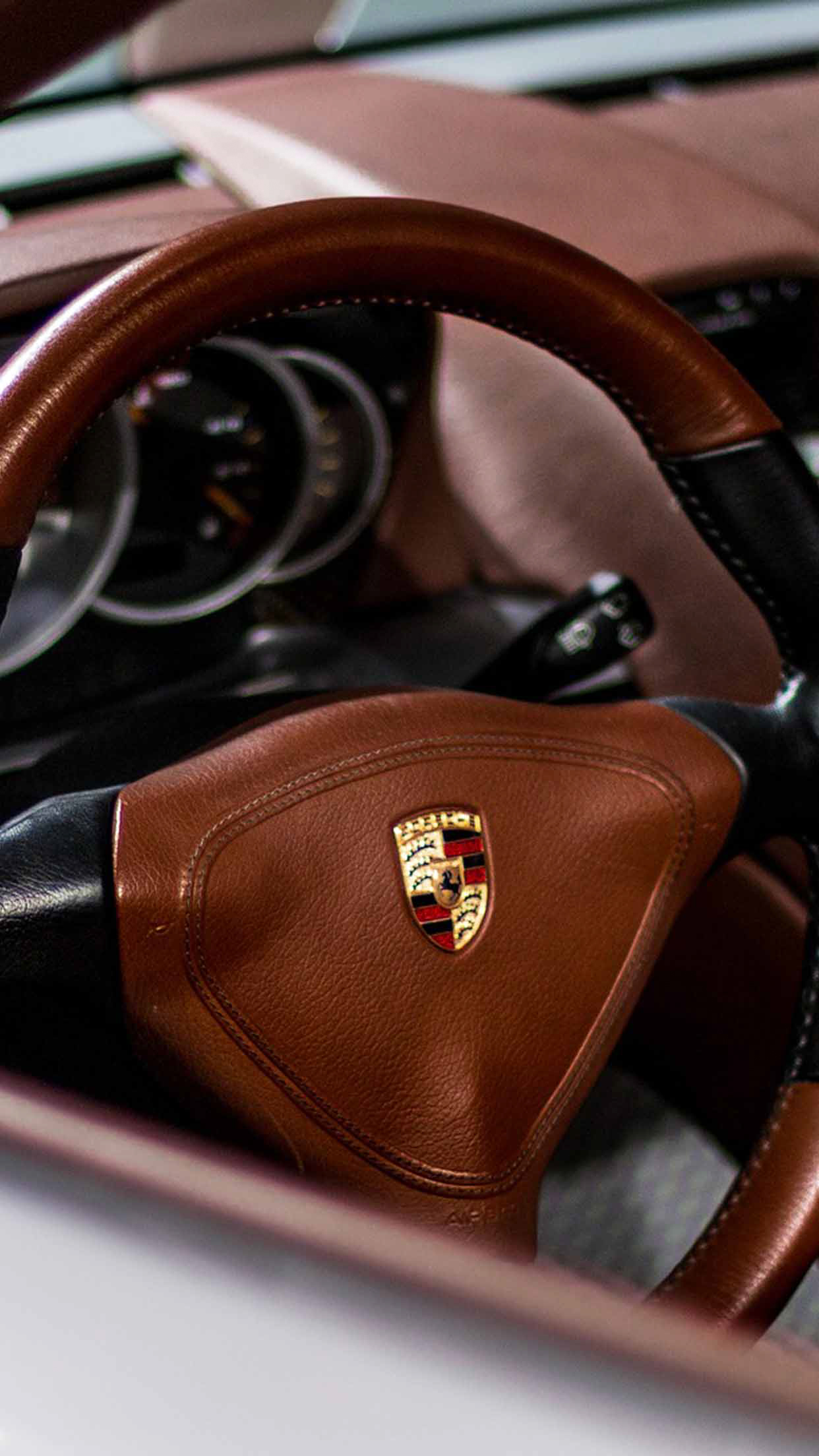 Porsche Leather design 5k Wallpaper