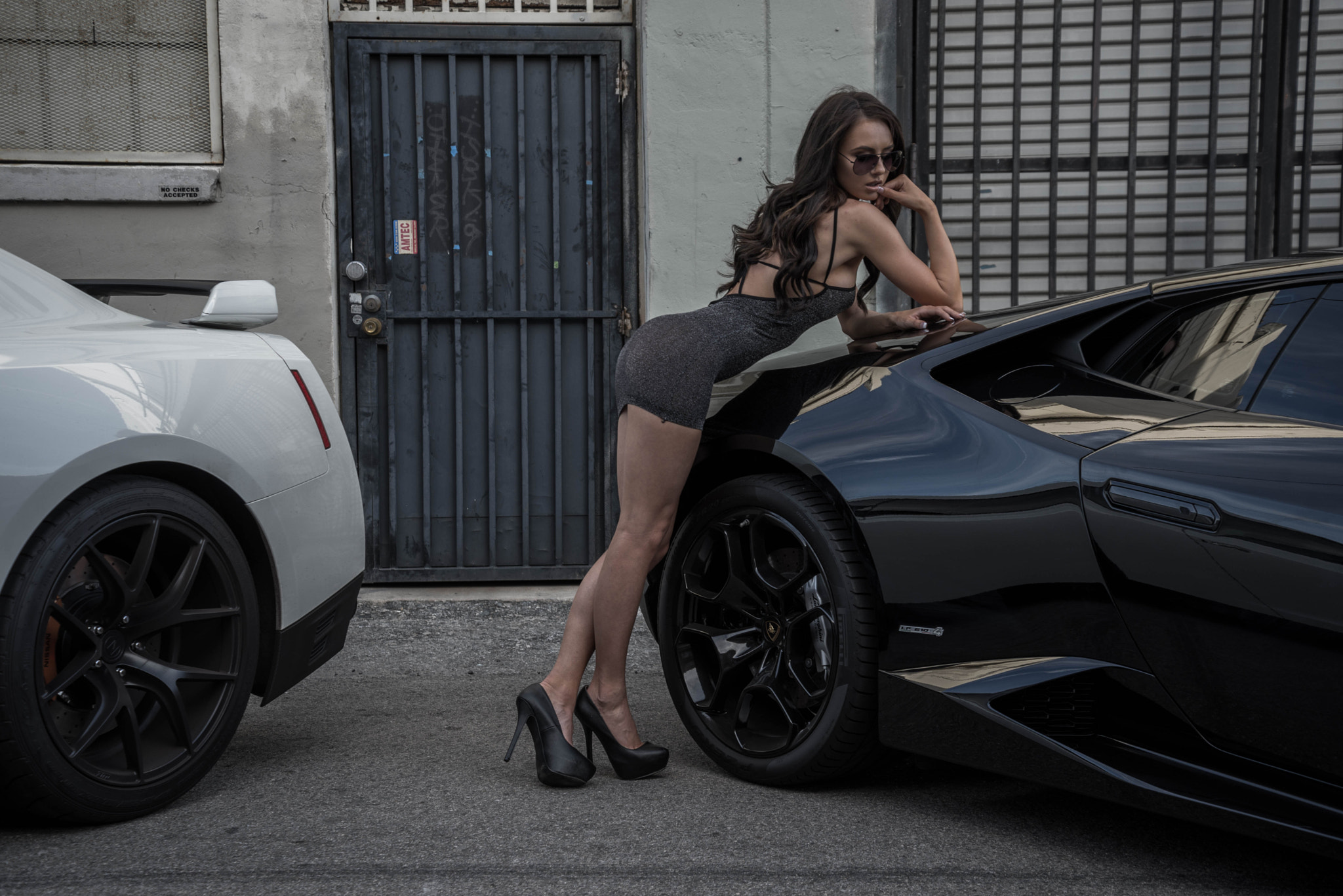Super Car and Girl wallpaper