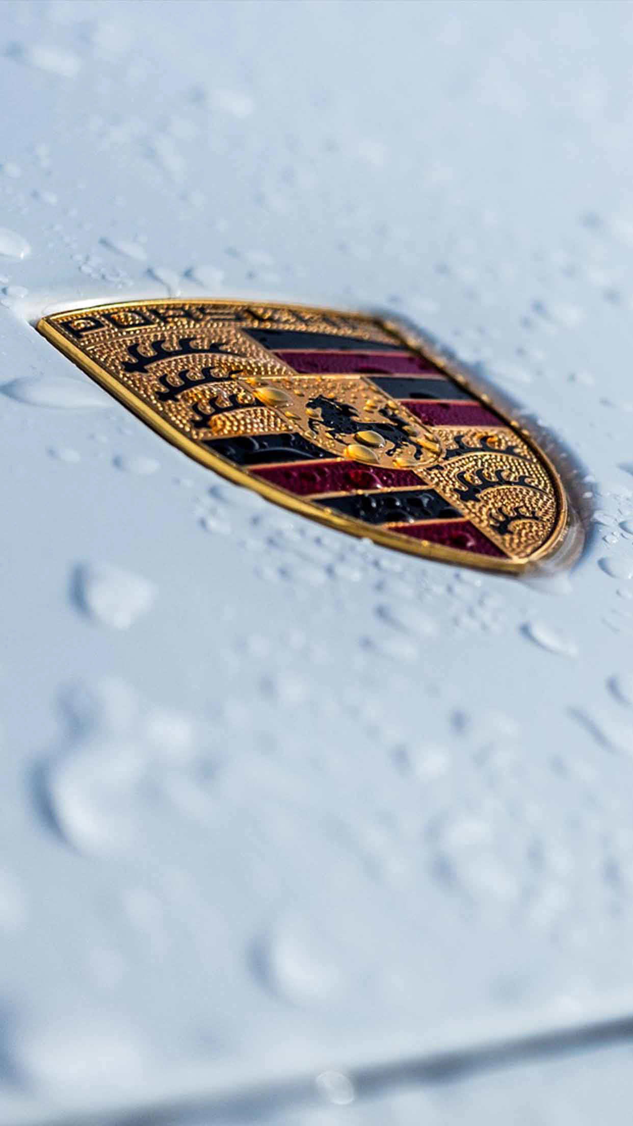 Porsche White Car logo wallpaper
