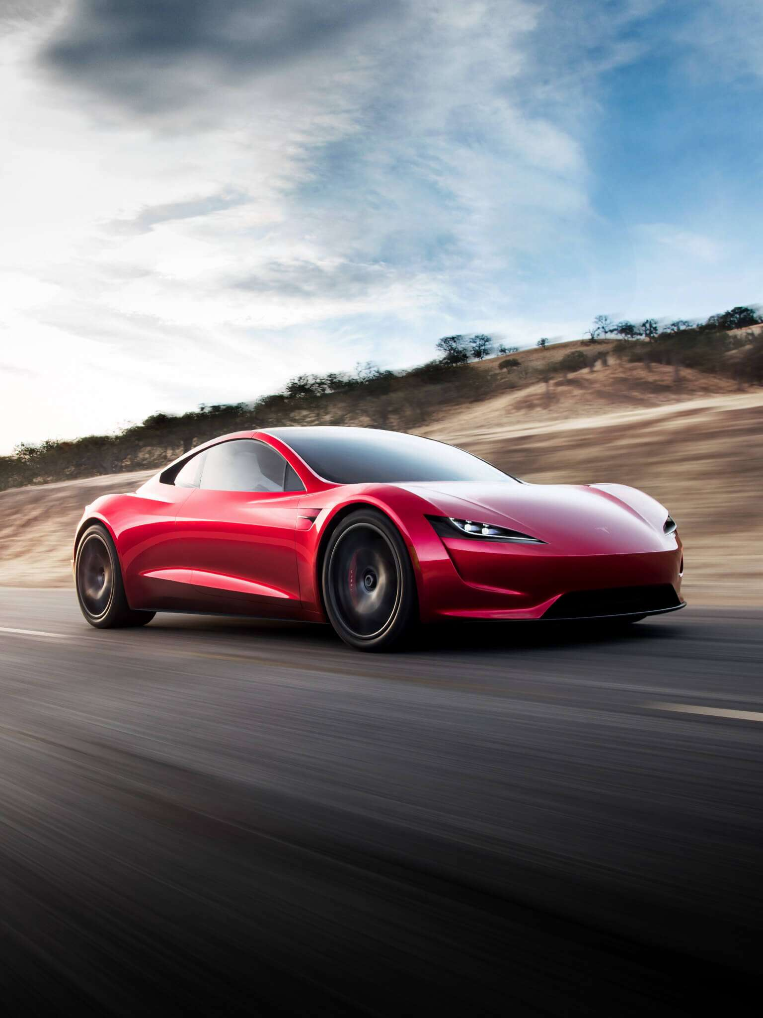 Tesla Roadster Wallpaper for mobile