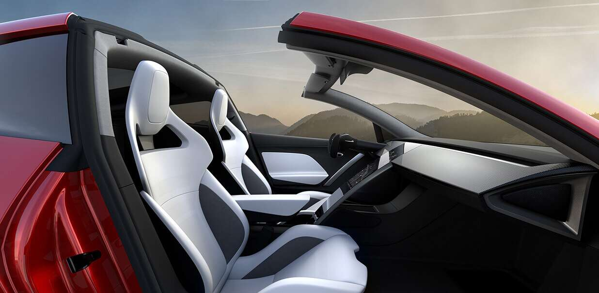 Tesla roadster interior wallpaper